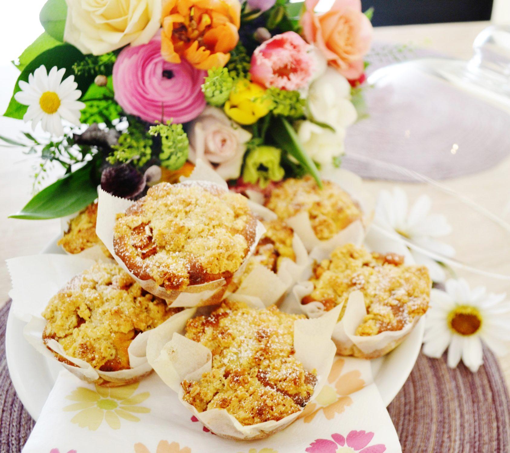 Kleine Leckereien für zwischendurch! Apfel-Zimt-Muffins mit Streuseln