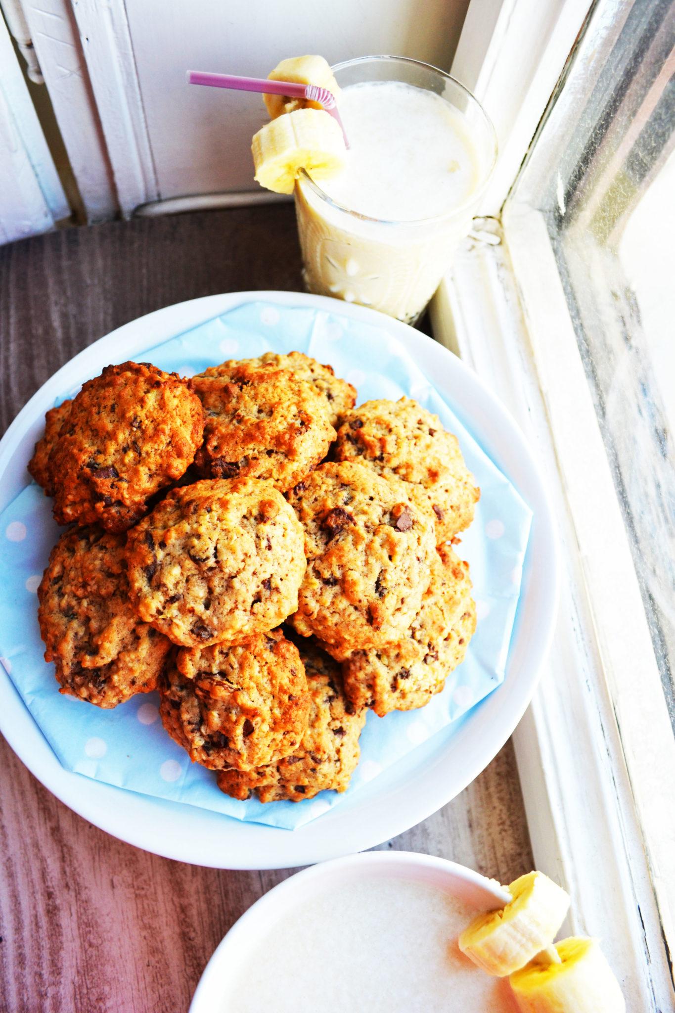 Ein Keks zum Verlieben! Saftige Bananen-Schokoladen-Cookies