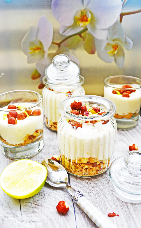 Eine Leckerei im Glas! Limetten-Ingwer-Mousse mit Haselnussknusper
