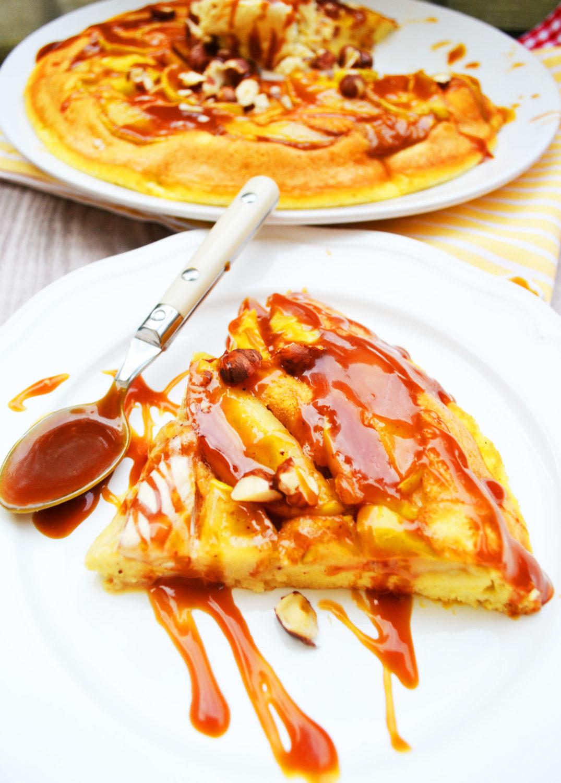 Himmlisch süßes Naschvergnügen! Apfelpfannkuchen mit Salzkaramell