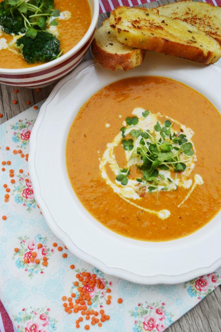 Heiß geliebt! Rote Linsen - Kokosmilch - Suppe