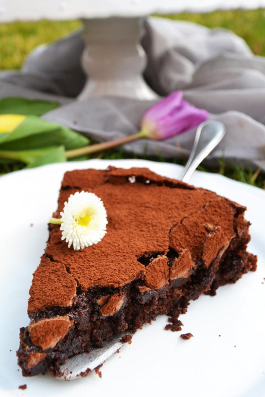 Schokoladen fondant kuchen
