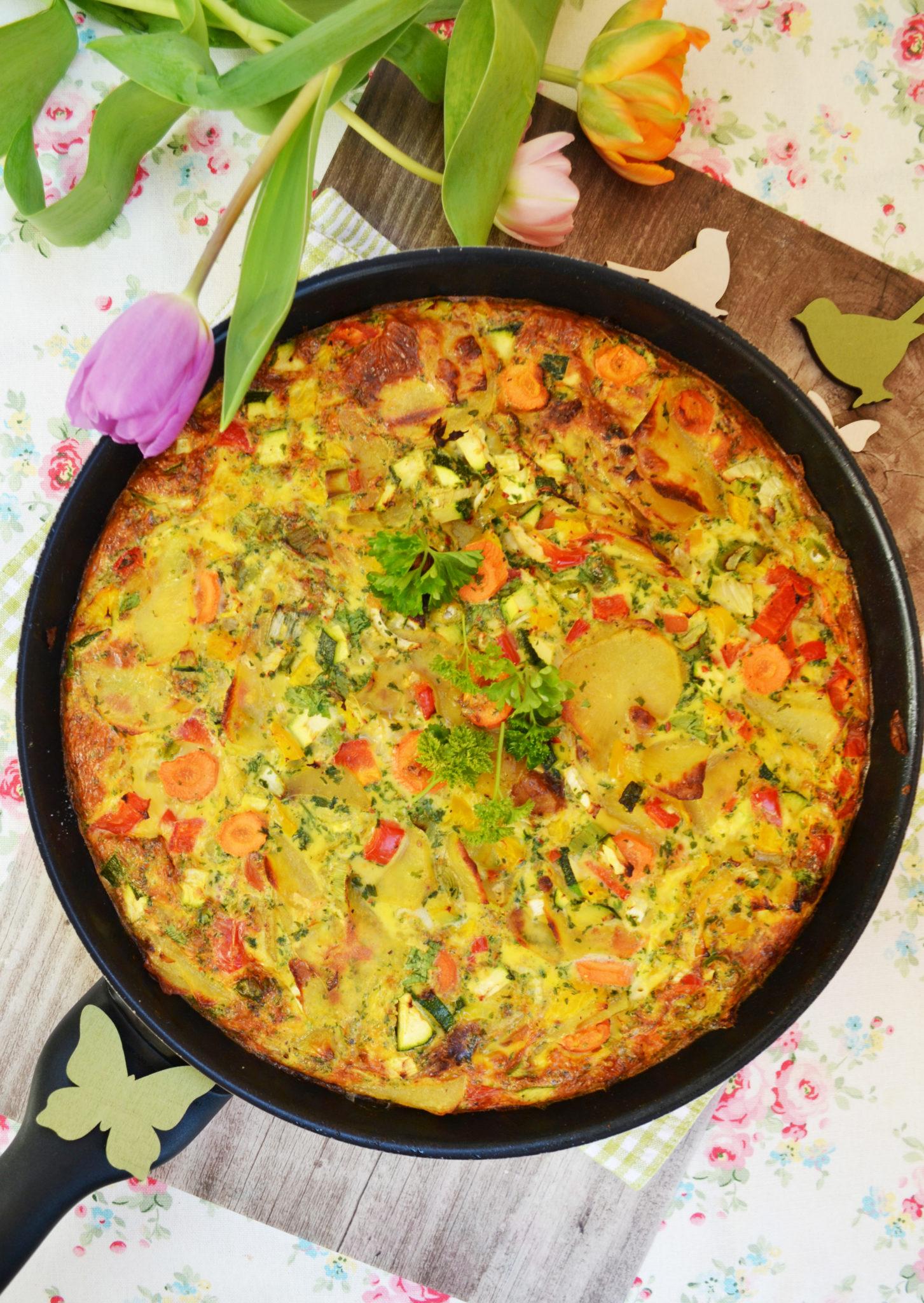 Spaniens Antwort auf das Omelette! Kartoffel-Gemüse-Tortilla