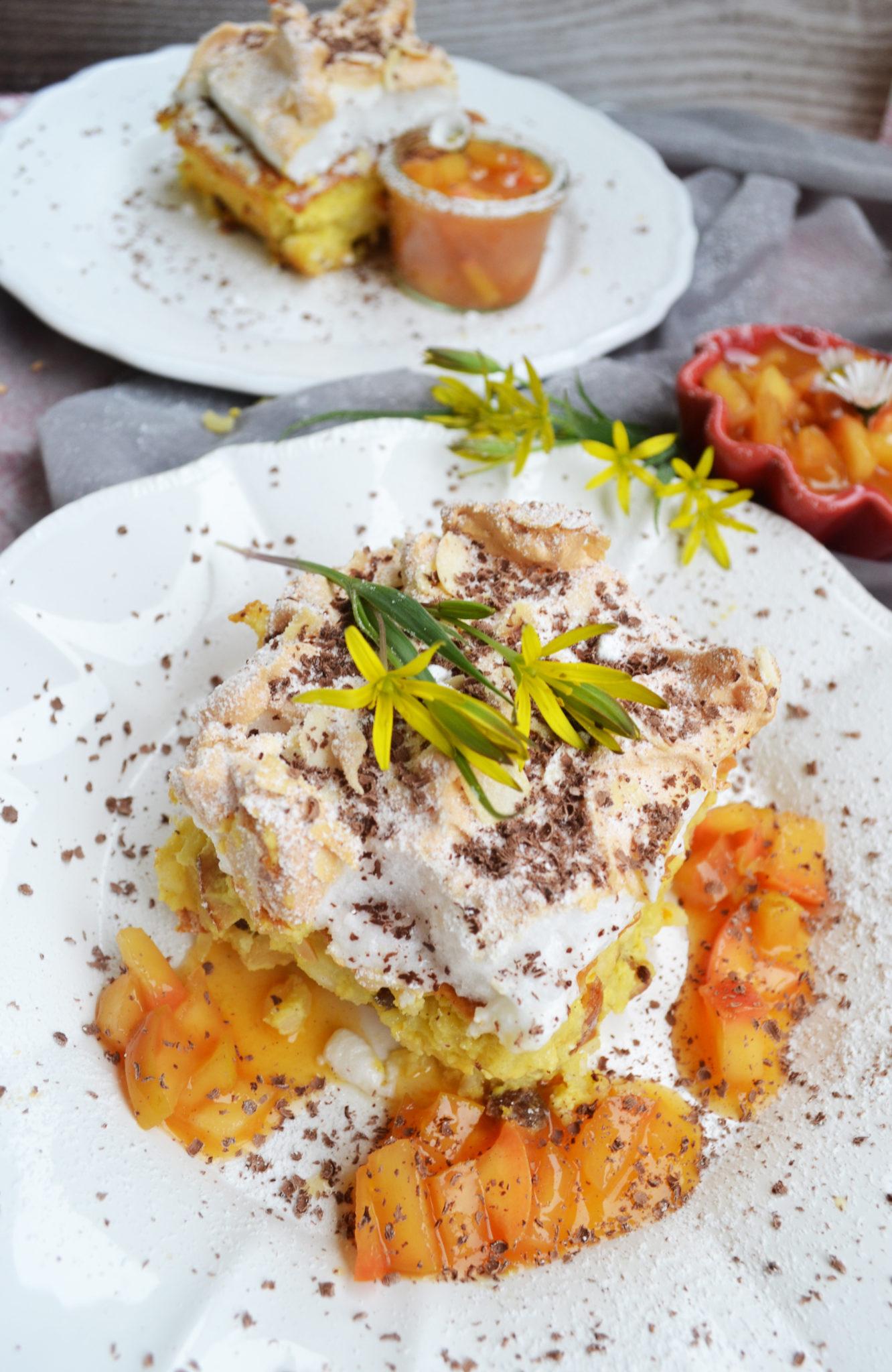 Lieblingsessen-Klassiker! Reisauflauf mit Äpfeln und Baiserhäubchen