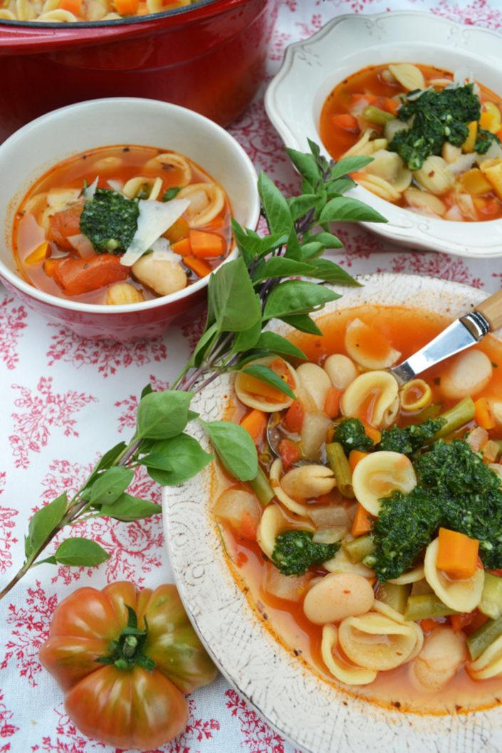 Ein Schüsselchen voller Gemüse! Soupe au Pistou