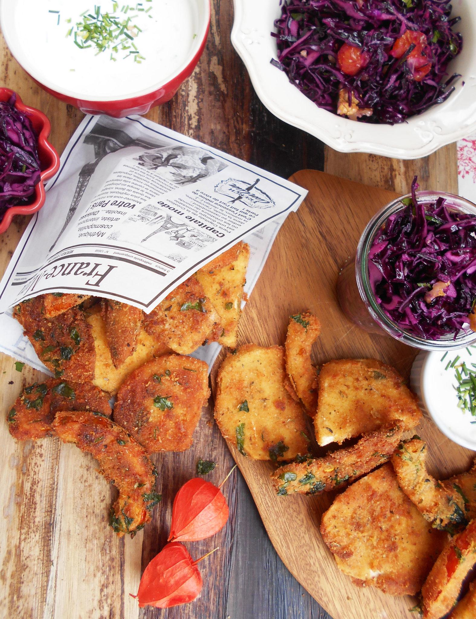 Knuspriges Küchenglück! Gebackenes Herbstgemüse mit Rotkrautsalat