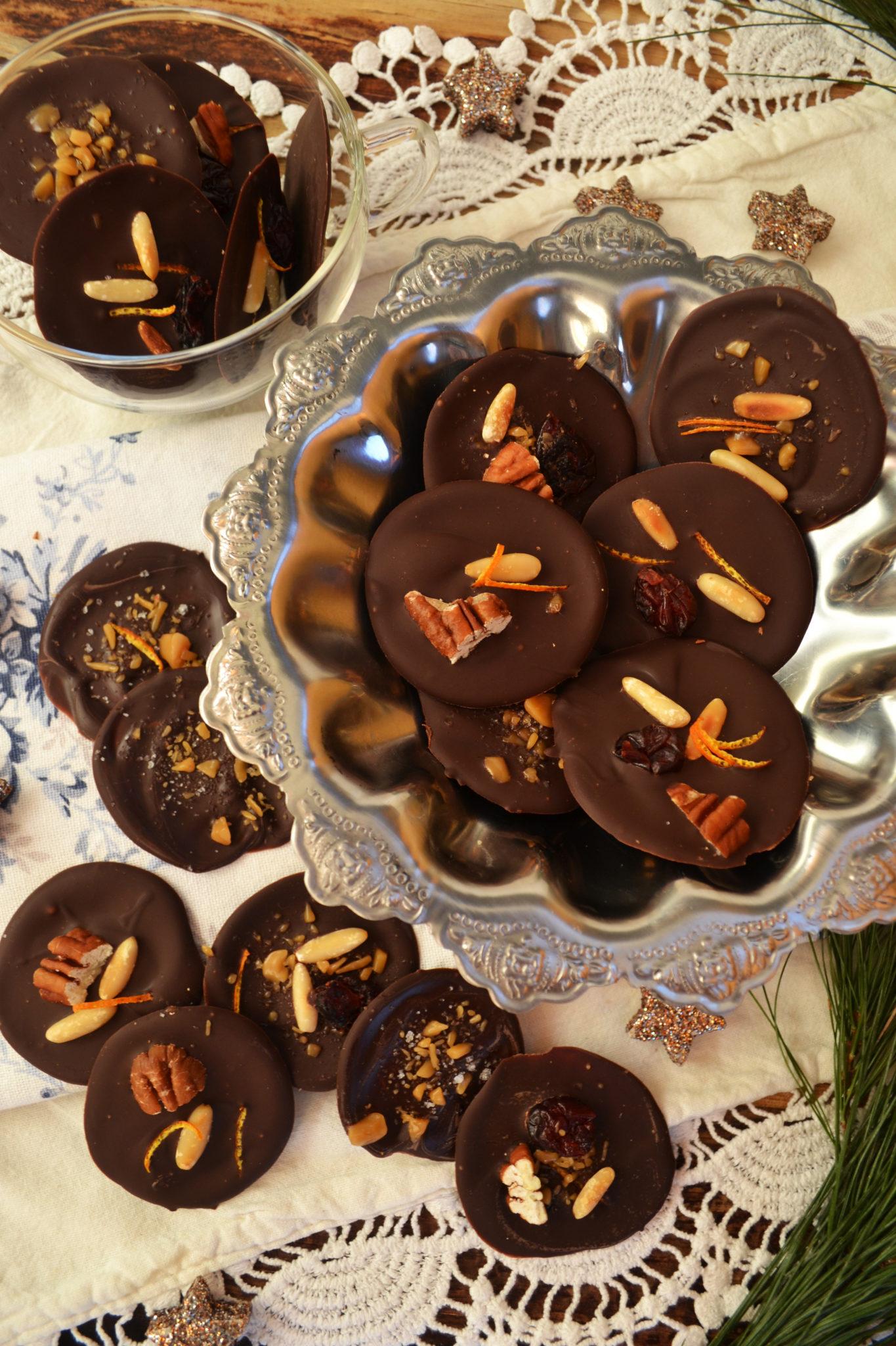 Mendiants au chocolat! Süße Schokotaler aus der Provence