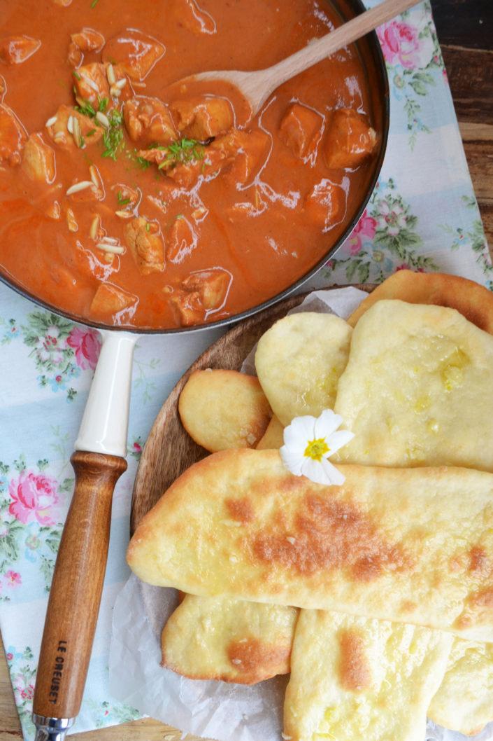 Heute wird's indisch! Butter Chicken mit Naan