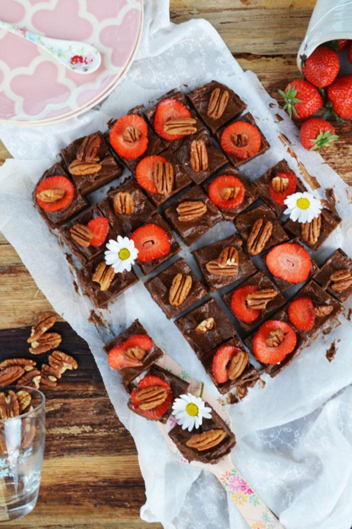 Wertvoll lecker! Gesunde Schoko-Cheesecake-Brownies