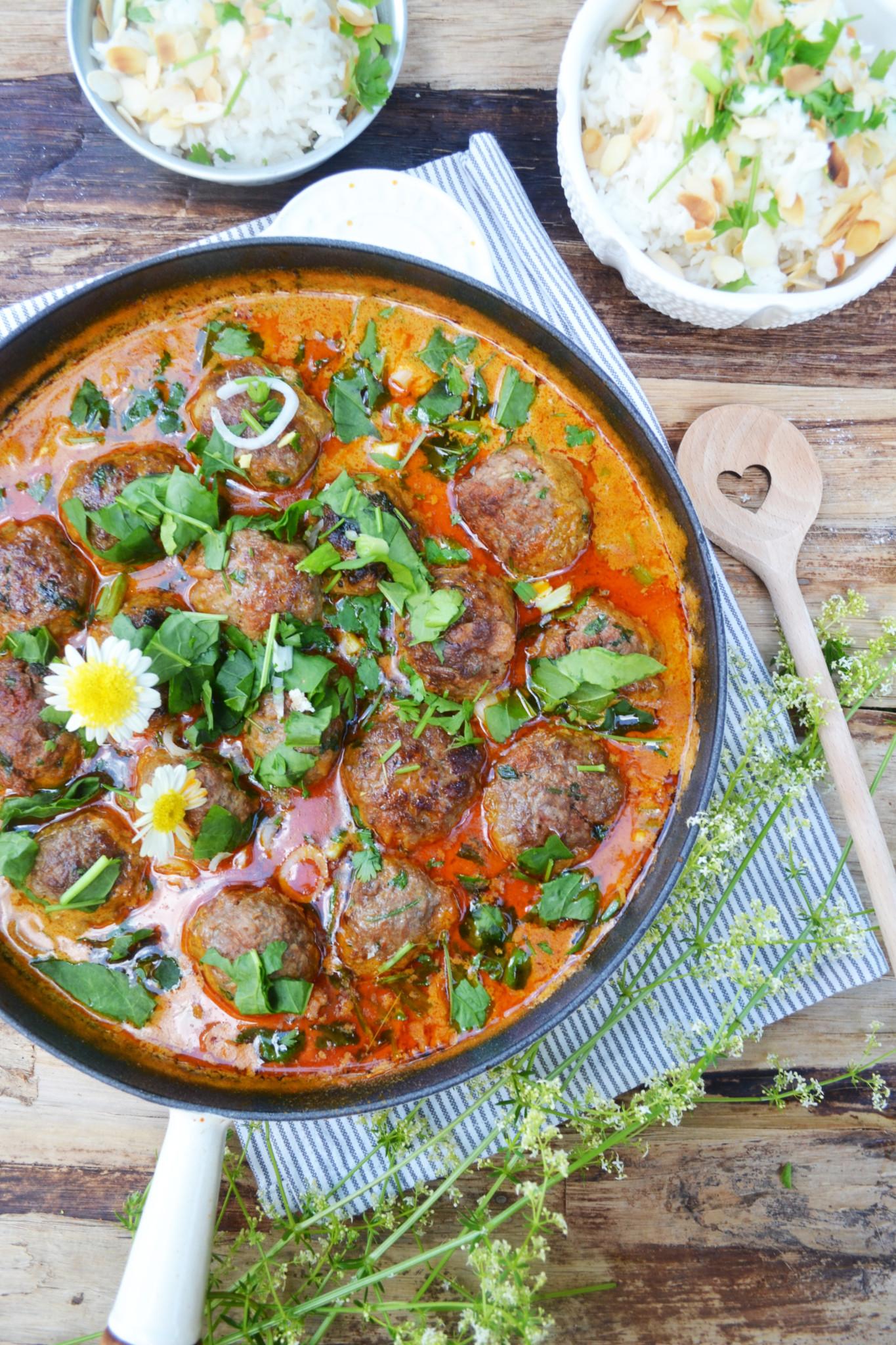 Ein Hauch Indien auf dem Teller! Tandoori-Fleischbällchen ...