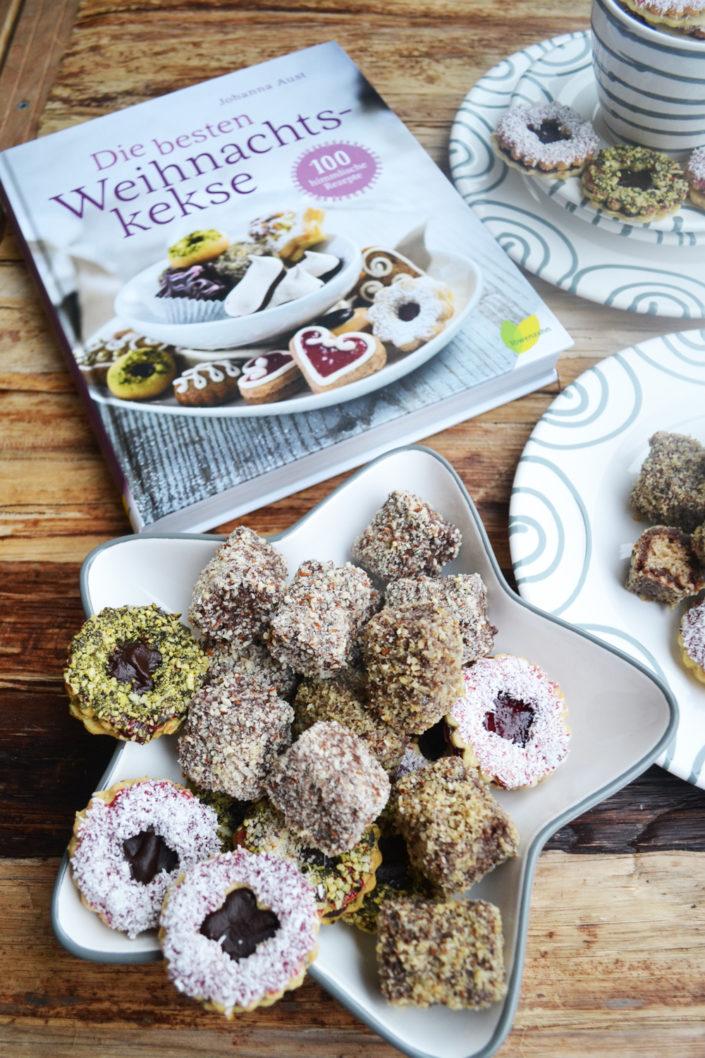 Die besten Weihnachtskekse! Kokosblüten und Lebkuchen-Schoko-Würfel