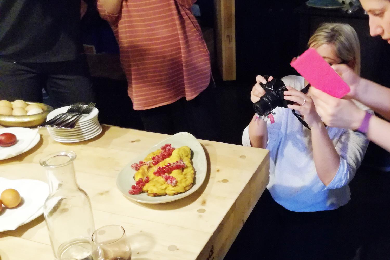 Foodblogger bei der Arbeit...