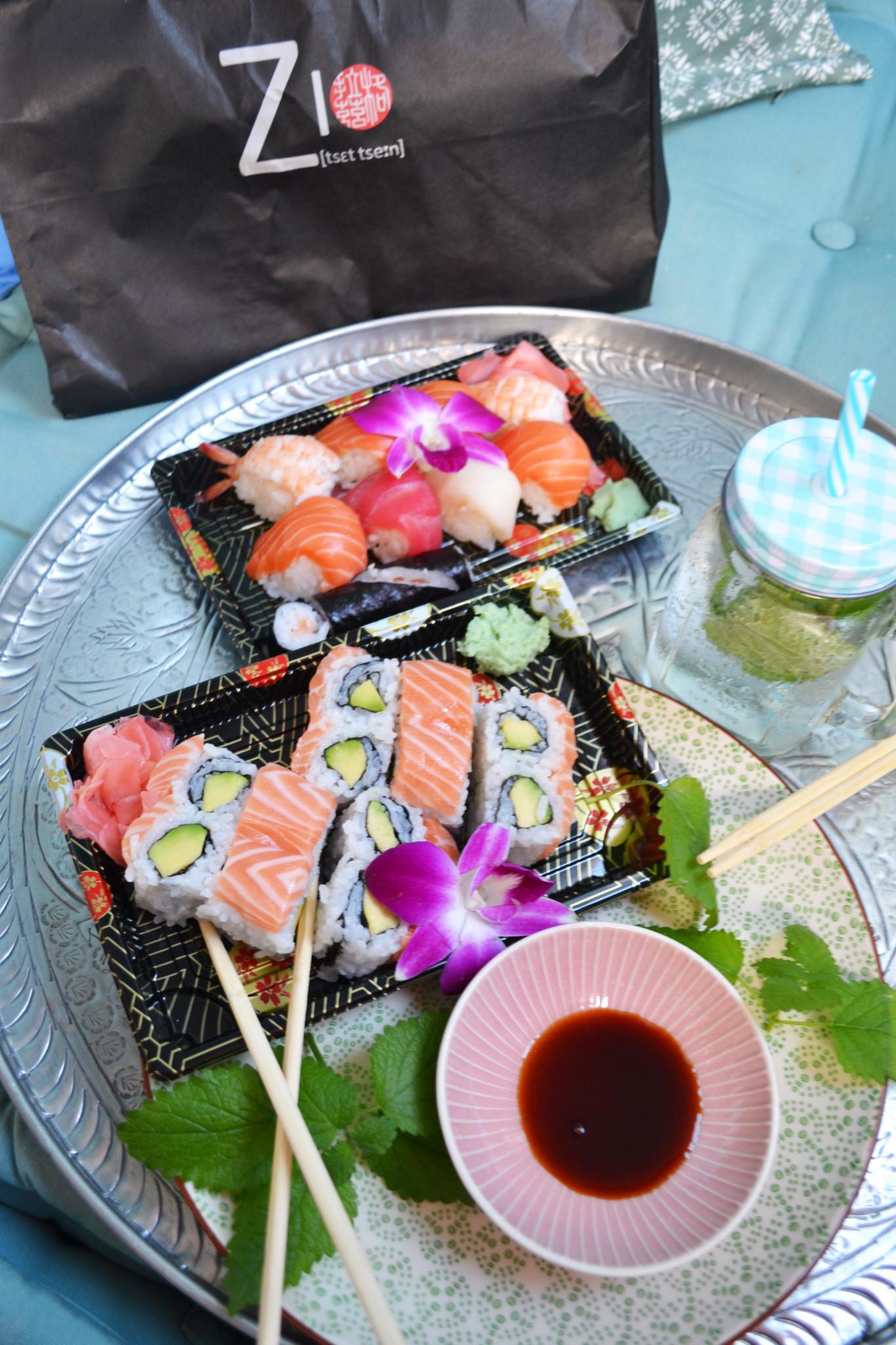 Natürlich durfte meine geliebte Sushi Bestellung auch nicht fehlen!